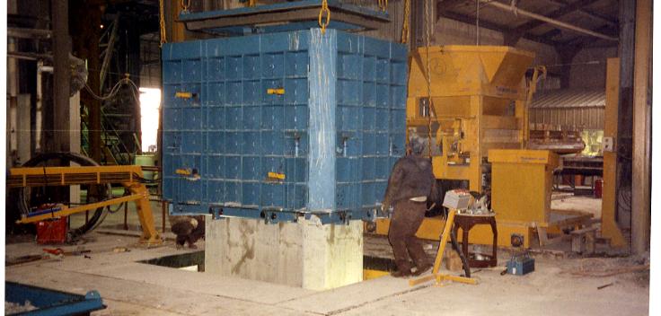 Teksam machines producing square box culverts