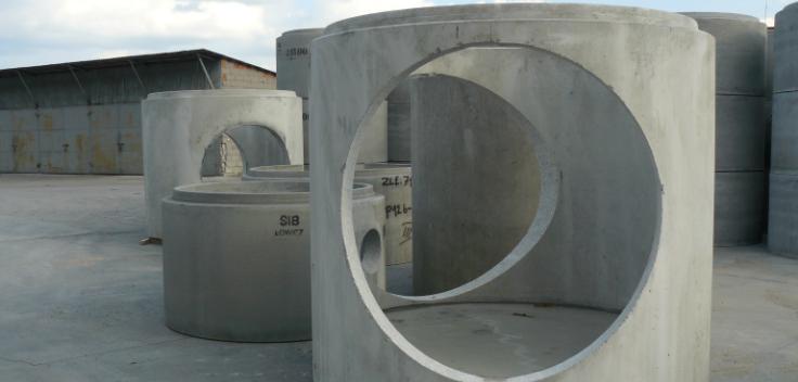 Manhole basins with cored holes