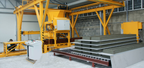Pancast machine with hog slats